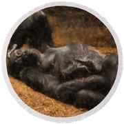 Gorilla - Painterly Round Beach Towel