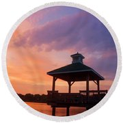 Gorton Pond Beauty Warwick Rhode Island Round Beach Towel