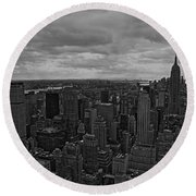 Gotham Round Beach Towel