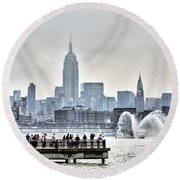 Gotham Harbor Round Beach Towel