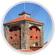 Gothenburg Fortress 03 Round Beach Towel