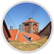 Gothenburg Fortress 05 Round Beach Towel