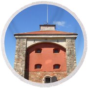 Gothenburg Fortress 07 Round Beach Towel