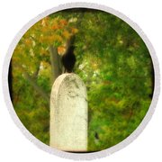 Gothic Autumn Round Beach Towel