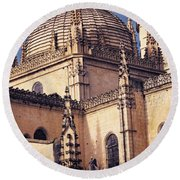 Gothic Cathedral Round Beach Towel