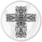 Gothic Cross Round Beach Towel