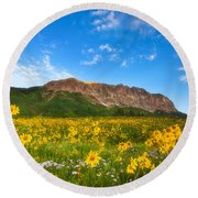 Gothic Meadow Round Beach Towel