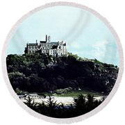 Gothic St Michael's Mount Cornwall Round Beach Towel