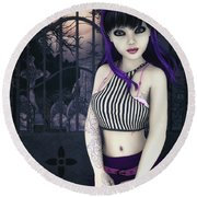 Gothic Temptation Round Beach Towel