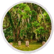 Gould's Cemetery Round Beach Towel
