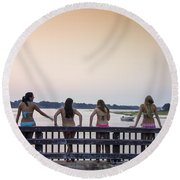 Goulds Creek Girls Round Beach Towel