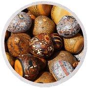 Gourds Galore Round Beach Towel