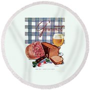 Gourmet Cover Featuring Bread Round Beach Towel