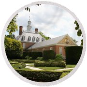 Governers Palace Garden Colonial Williamsburg Va Round Beach Towel
