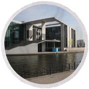 Government Building  Berlin  Round Beach Towel