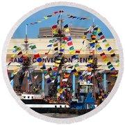 Tampa Convention Center And Gasparilla Round Beach Towel
