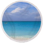 One And The Sea Round Beach Towel