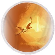 Mississippi Kite - Beauty Into The Light Round Beach Towel