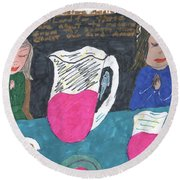 Grace Before Meals Round Beach Towel