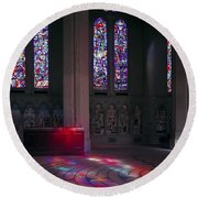 Grace Cathedral Walking Labyrinth - San Francisco Round Beach Towel