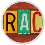 Grace License Plate Name Sign Fun Kid Room Decor. Round Beach Towel