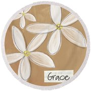 Grace Round Beach Towel