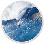 Grace Under Pressure Round Beach Towel by Sean Davey