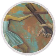 'grace Was Given' Round Beach Towel