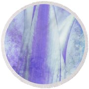 Graced Blossom In Lavender Round Beach Towel