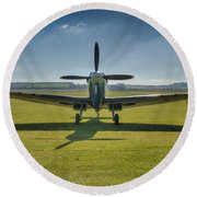 Graceful Spitfire Hdr Round Beach Towel