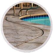 Gracious Curves Palm Springs Round Beach Towel