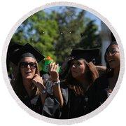 Graduation Uva Round Beach Towel