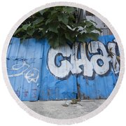 Graffiti-0579 Round Beach Towel