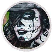 Graffiti Art Curitiba Brazil 21 Round Beach Towel by Bob Christopher