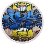 Graffiti Art Curitiba Brazil 7 Round Beach Towel by Bob Christopher