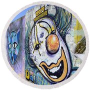 Graffiti Art Santa Catarina Island Brazil 1 Round Beach Towel by Bob Christopher