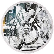 Graffiti Bikes Round Beach Towel