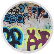 Graffiti Round Beach Towel