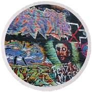 Graffiti Series 01 Round Beach Towel