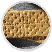 Graham Crackers Round Beach Towel