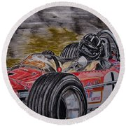 Graham Hill Mr Monaco Round Beach Towel