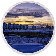Grain Barns Round Beach Towel