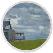 Grain Elevator Round Beach Towel