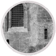 Granada Cathedral Monochrome Round Beach Towel