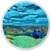 Grand Canyon # 7 - Hopi Point Round Beach Towel