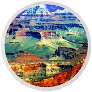 Grand Canyon After Monsoon Rains Round Beach Towel