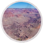 Grand Canyon And Colorado River Round Beach Towel