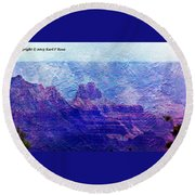 Grand Canyon As A Painting 2 Round Beach Towel