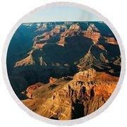 Grand Canyon At Sunset Round Beach Towel