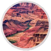 Grand Canyon Colorado Canyon Round Beach Towel